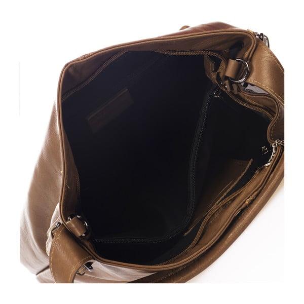 Brązowa torebka skórzana Federica Bass Canis