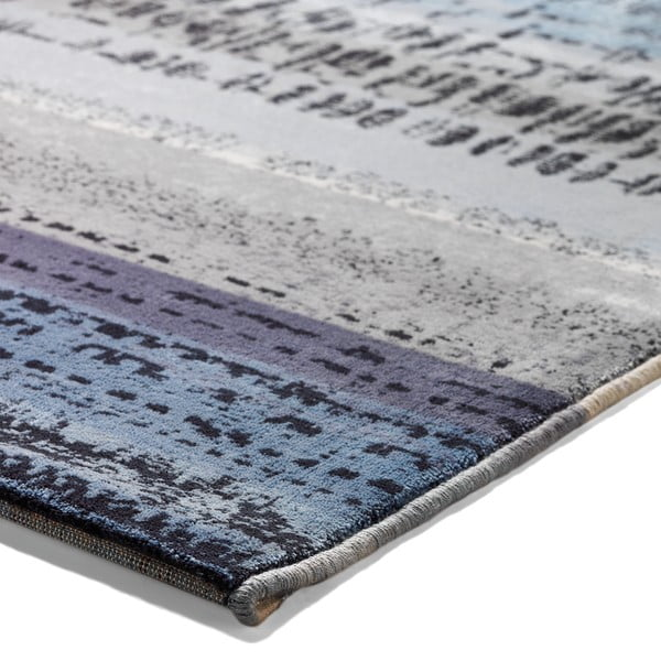 Dywan Esprit Graphic Edge Blue, 120x180 cm