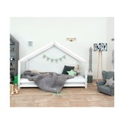 Białe łóżko dziecięce z lakierowanego drewna świerkowego Benlemi Sidy, 90x160 cm