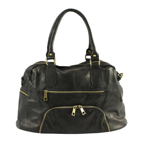 Czarna skórzana torebka Jenny