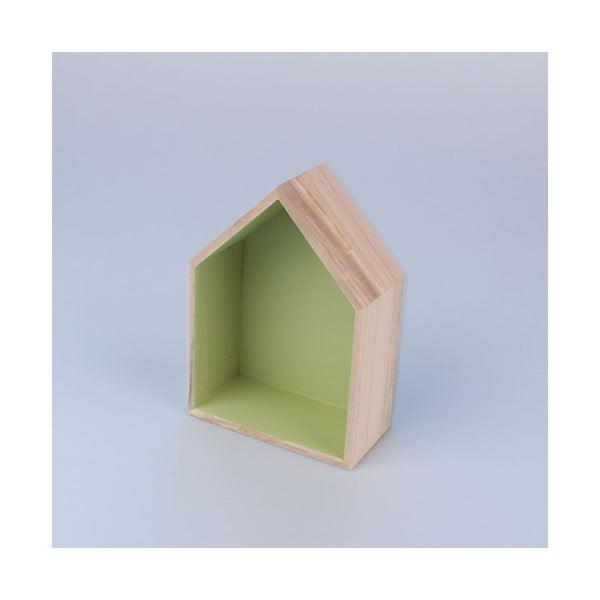Półka wisząca Domek 12x17 cm, zielona