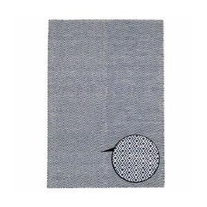Ręcznie tkany dywan Flat Blue Waves, 150x215 cm