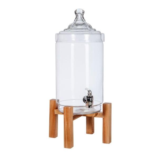 Szklany pojemnik na wodę, 22x22x56 cm