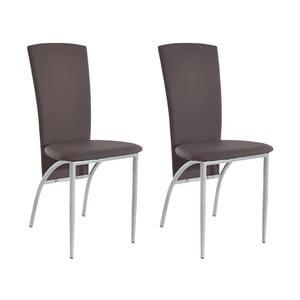 Zestaw 2 brązowych krzeseł Støraa Nevada