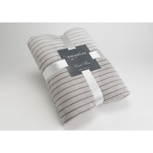 Koc Stripe Grey, 170x130 cm
