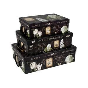 Zestaw 3 pudełek Botanique