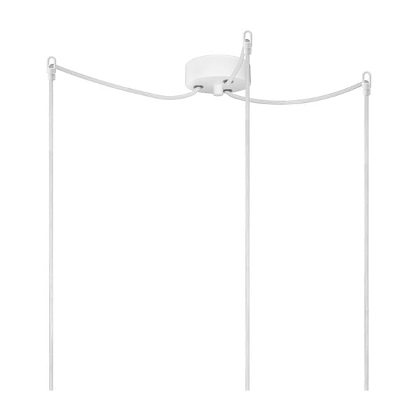 Lampa potrójna BI Elementary, biała/biała/biała