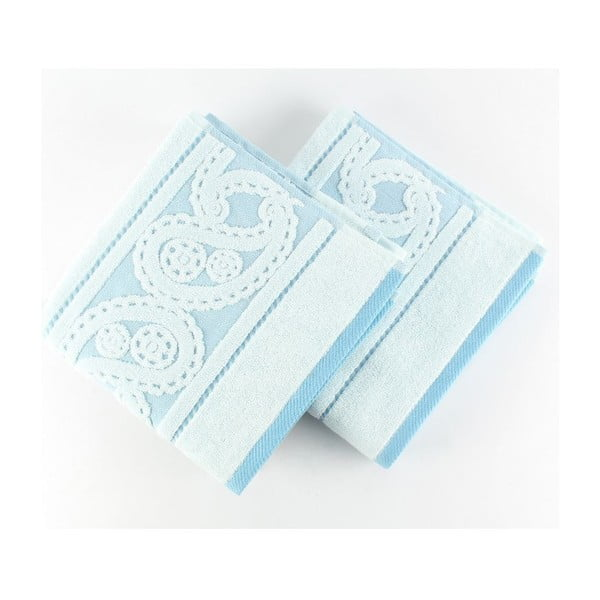 Zestaw 2 ręczników Hurrem Blue, 50x90 cm