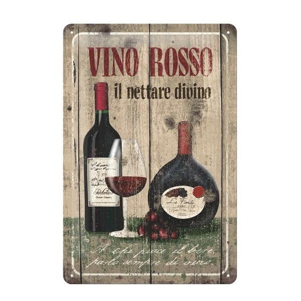 Blaszana tablica Vino rosso, 20x30 cm