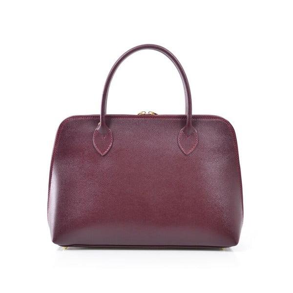 Skórzana torebka Dominique, bordo