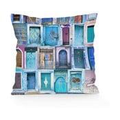 Poduszka Really Nice Things Blue Doors, 45x45 cm