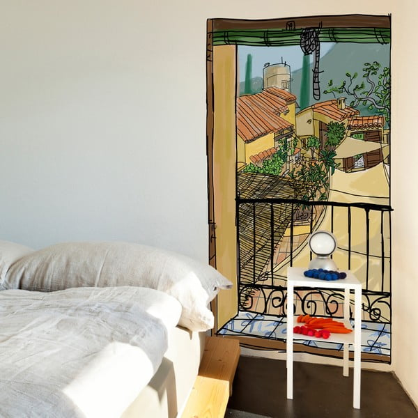 Naklejka Window With A Sunblind