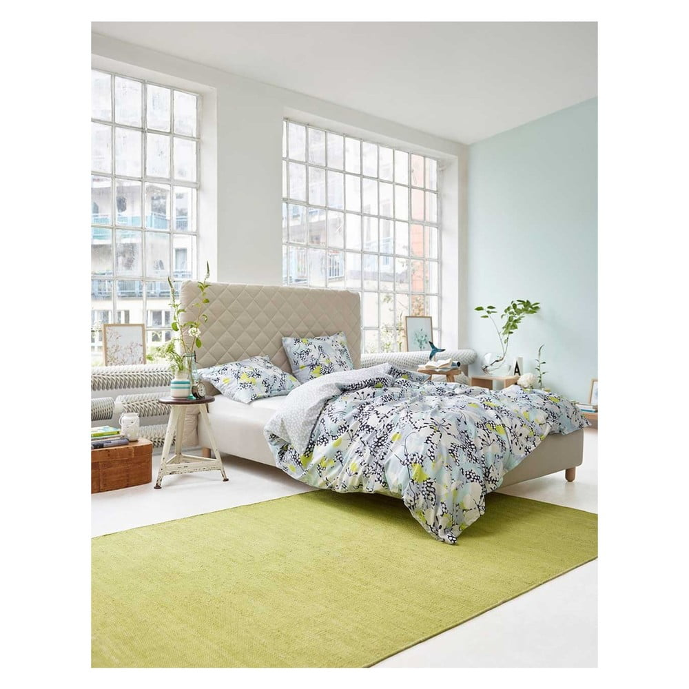 niebieska wzorzysta po ciel esprit puako 140x200 cm bonami. Black Bedroom Furniture Sets. Home Design Ideas