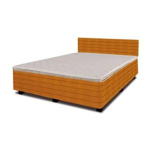 Łóżko z materacem New Star Orange, 140x200 cm