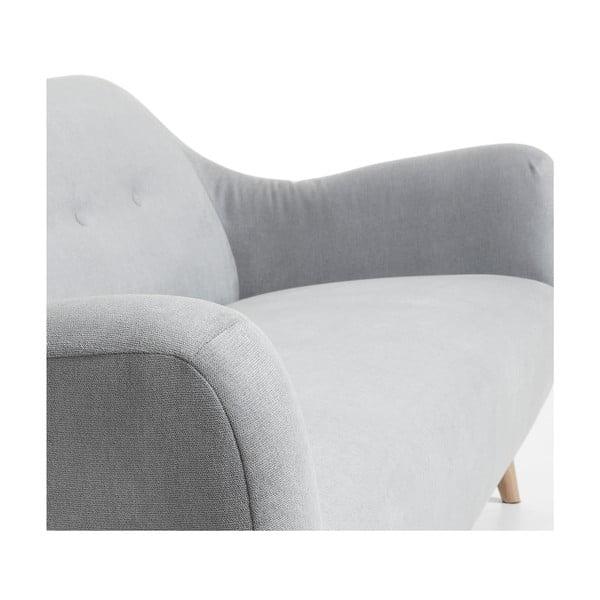 Jasnoszara sofa trzyosobowa La Forma Opal