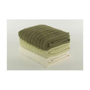 Komplet 3 ręczników Pierre Cardin Olive, 50x90 cm