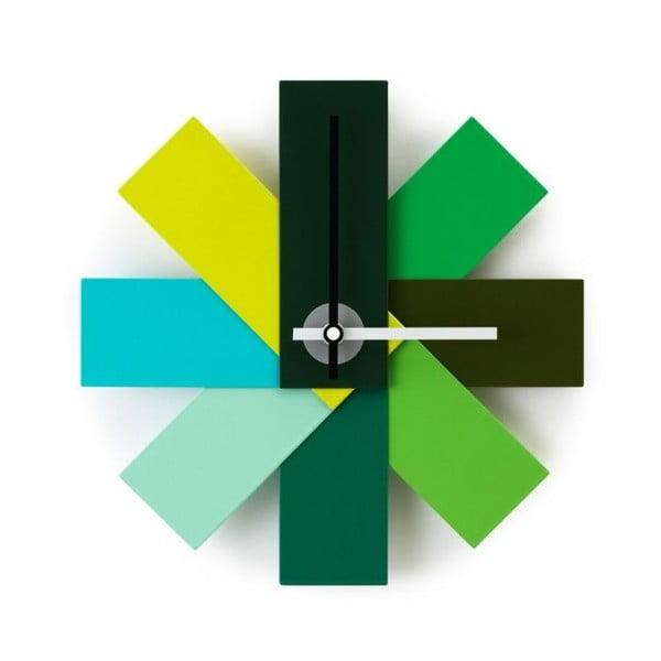 Zegar Watch Me, zielony