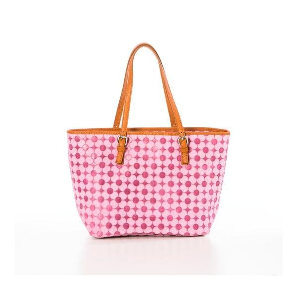 Różowa torebka skórzana Federica Bassi Margherita
