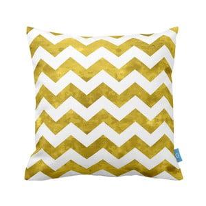 Żółto-biała poszewka na poduszkę Moderna, 40x40 cm