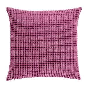 Różowa poduszka pikowana z wypełnieniem, 45x45cm