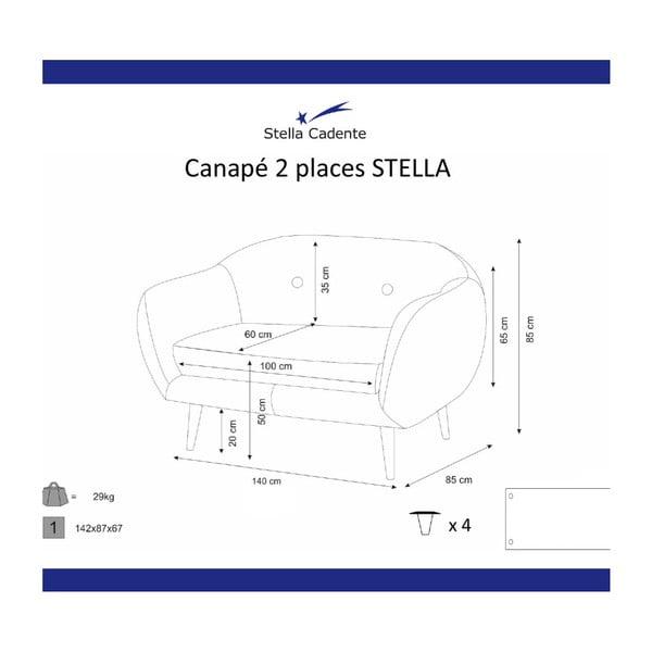 Niebieskozielona sofa 2-osobowa Scandi by Stella Cadente Maison