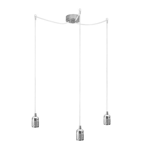 Potrójna lampa wisząca Uno, srebrny/biały/srebrny