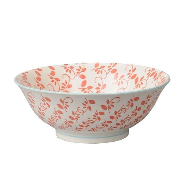 Porcelanowa miska Soba Orient Red, 21x7,8 cm