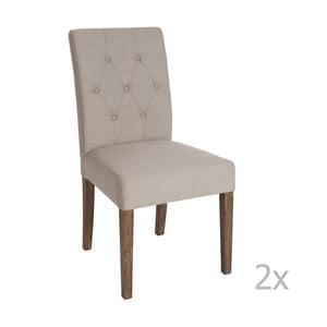 Zestaw 2 brązowych krzeseł do jadalni Louis