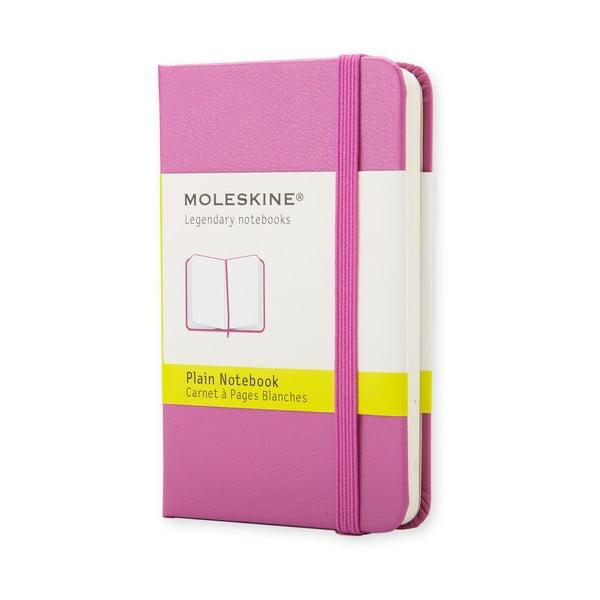 Różowy mininotes Moleskine, czyste strony