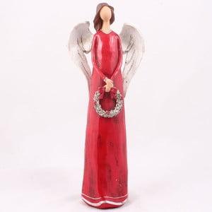 Czerwony anioł z wieńcem Dakls