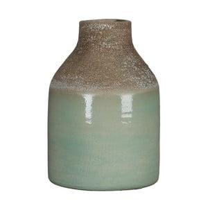 Zielony wazon Mica Belinda, 25x17cm