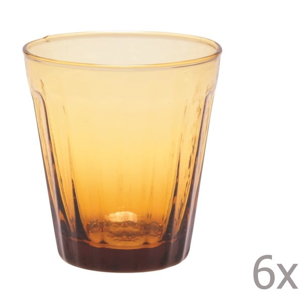 Zestaw 6 szklanek na wino Lucca Honey, 180 ml