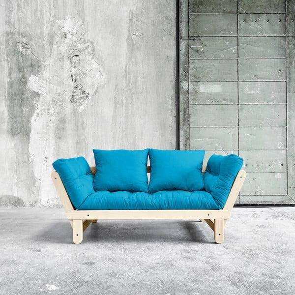 Sofa rozkładana Karup Beat Natural/Horizon Blue