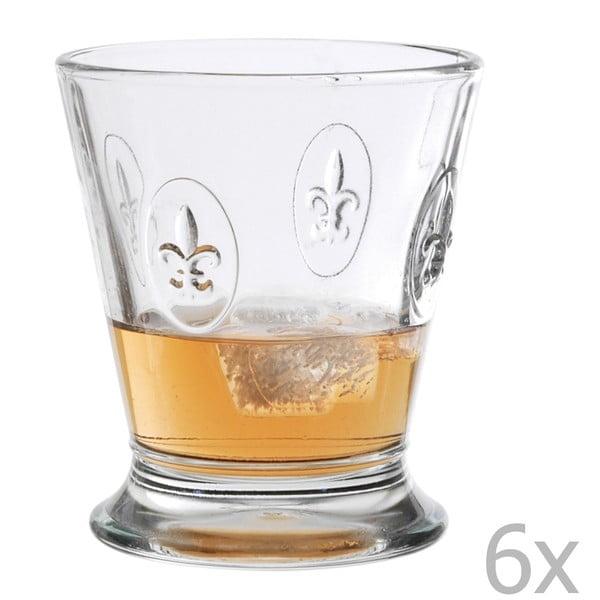 Zestaw 6 szklanek typu short Fleur de Lys, 250 ml