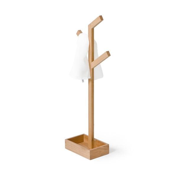 Stojak na ręczniki z drewna dębowego Wireworks Mezza Branch