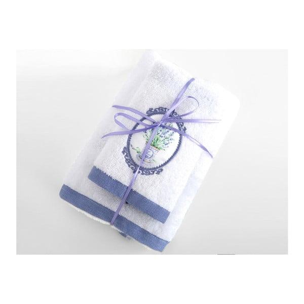 Zestaw 2 białych ręczników Irya Home Spa, 30x50 cm i 50x90 cm