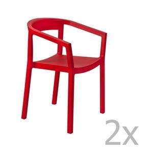 Zestaw 2 czerwonych foteli ogrodowych Resol Peach