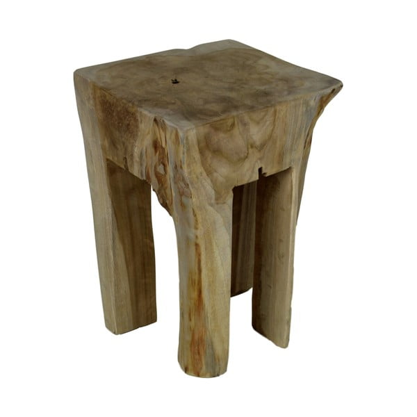 Stołek z drewna tekowego HSM collection Keta