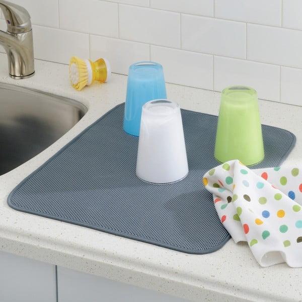Szara podkładka na umyte naczynia iDry