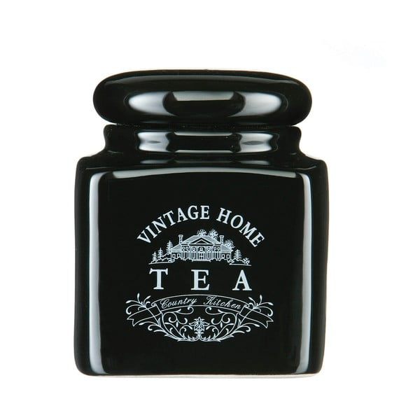Czarny pojemnik na herbatę Premier Housewares Vintage Home