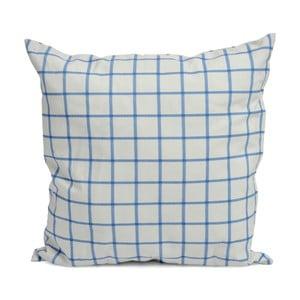 Poduszka z wypełnieniem Vichy 40x40 cm, niebieska/biała