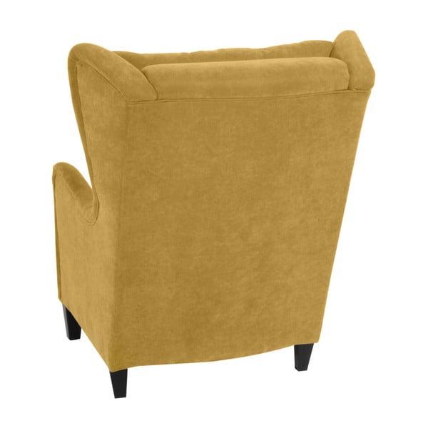 Żółty fotel Max Winzer Merlon