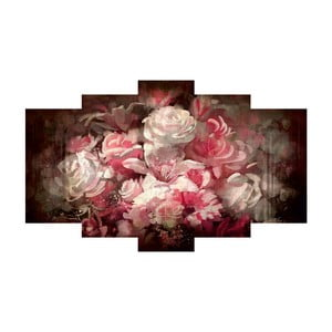 Pięcioczęściowy obraz Roses