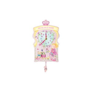 Różowy zegar wiszący Parete