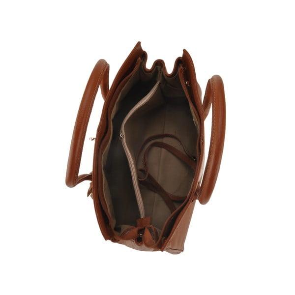 Skórzana torebka Gallina, czekoladowa
