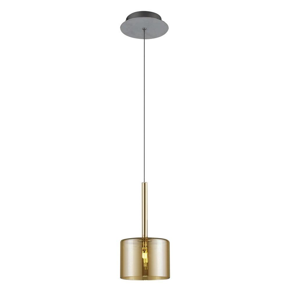 Złota lampa wisząca Alize,Ø14cm