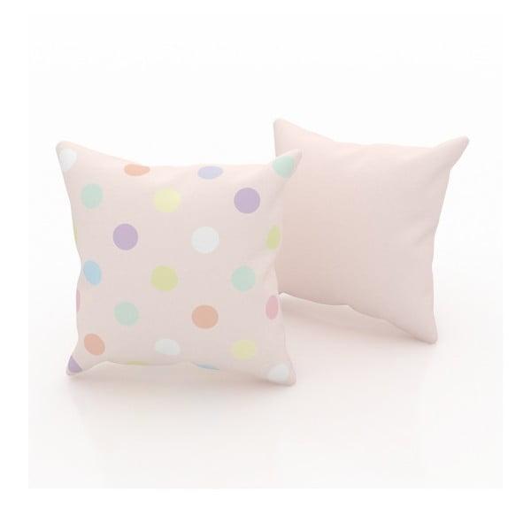 Zestaw 2 poduszek Dots, 43x43 cm