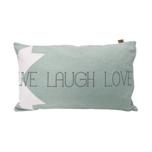 Poduszka Overseas Live Laugh Love Ice, 30x50 cm