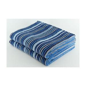 Komplet 2 ręczników Blue Grey, 70x140 cm