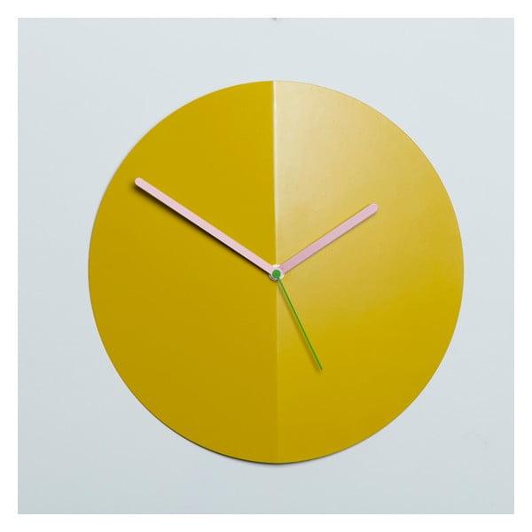 Zegar ścienny Mountain Fold, żółty